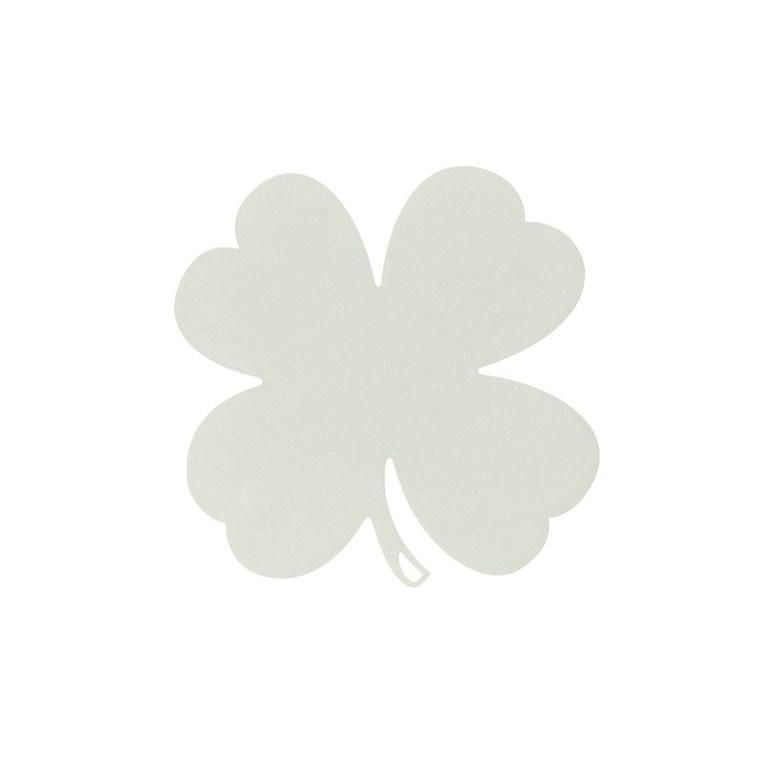Dessous de plat trèfle gris argile 28,5 x 28,5  cm 702366