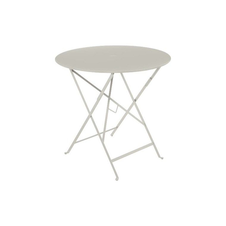 Table pliante Bistro ronde gris argile Ø 77 x 74 cm 702386