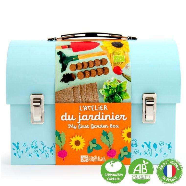 Valisette du jardinier bleue 703019