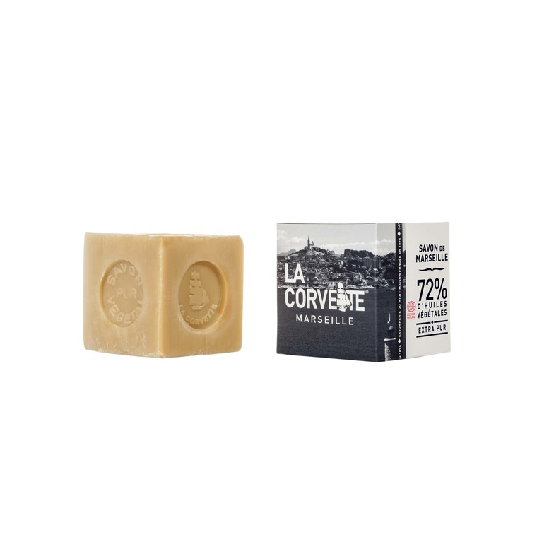 Cube de savon de Marseille extra pur Boîte 300 g 704792