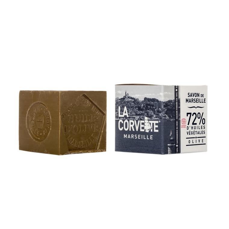Cube de savon de Marseille olive Boîte 500 g 704793