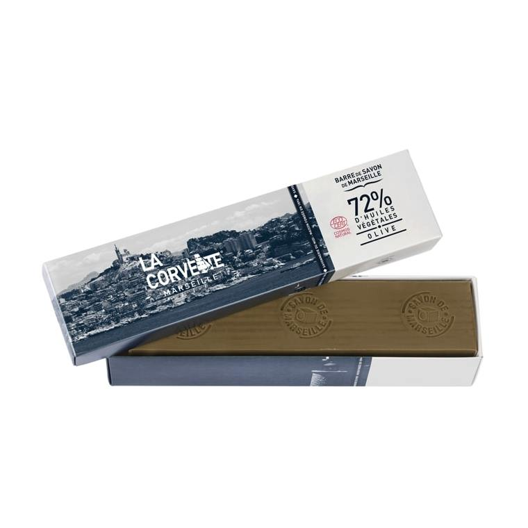 Barre de savon de Marseille olive Boîte 900 g 704797
