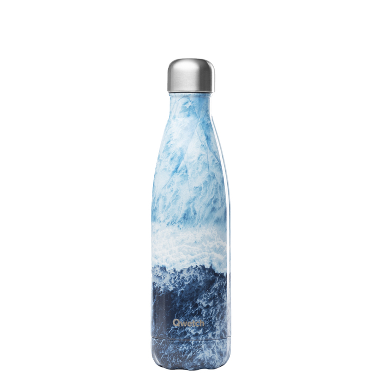 Bouteille isotherme Qwetch inox Océan bleue 500 ml 706739
