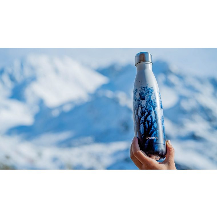 Bouteille isotherme Qwetch inox Glacier bleue 500 ml 706740