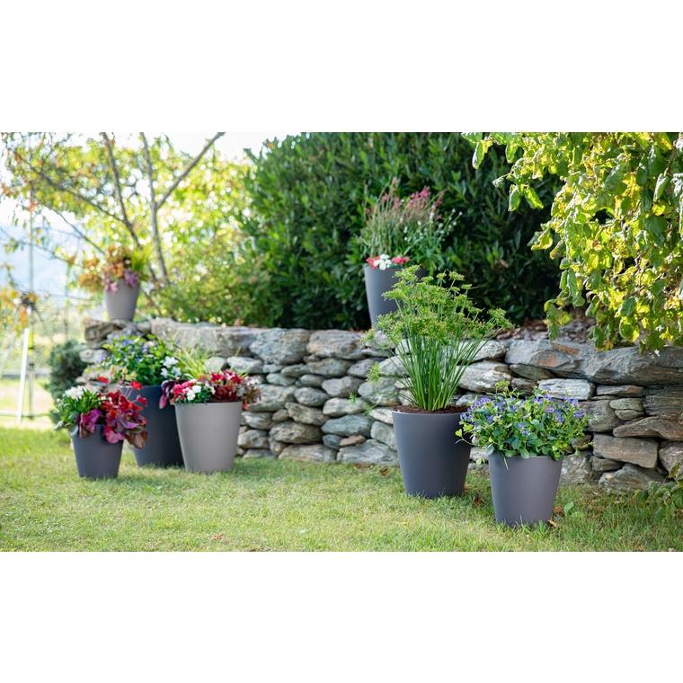 Le pot citoyen botanic® anthracite 7L (Ø 23,7 x H 25,8 cm) 707339