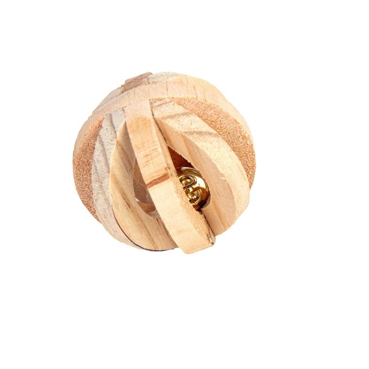 Boule en bois avec clochette pour rongeur Ø6 cm 710840