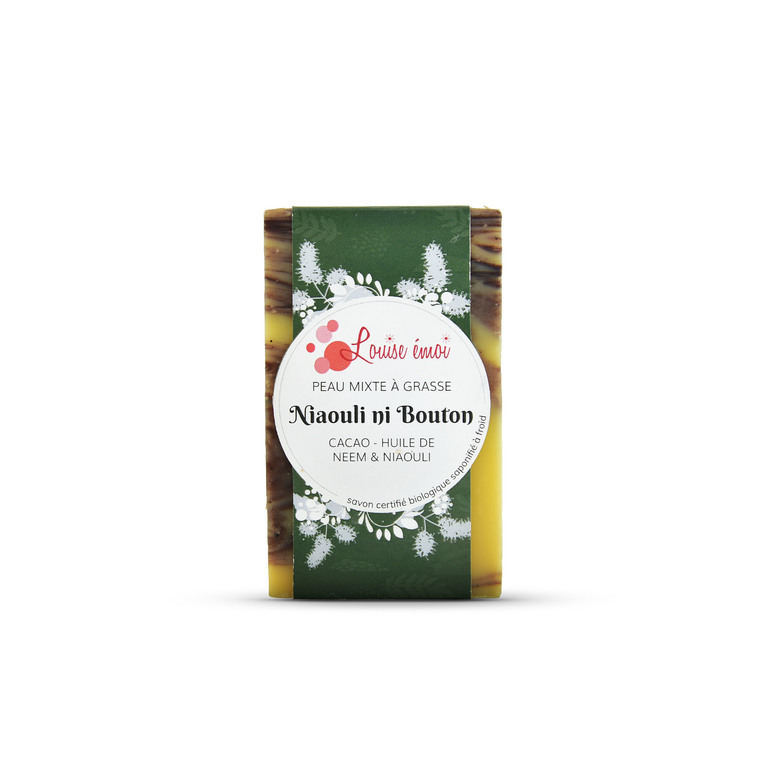 "Savon solide ""Ni bouton niaouli"" huile de neem et niaouli - 100g Louise Émoi 716029"