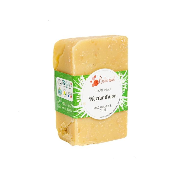 """Savon solide """"Nectar d'aloé"""" huile de macadamia et aloé vera - 100g 716037"""