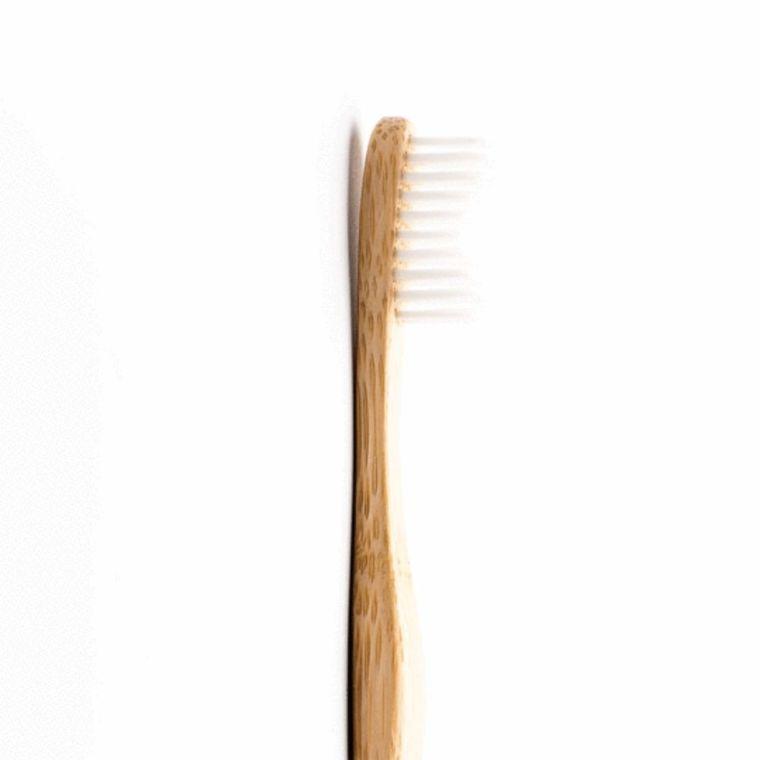 Brosse à dents pour adulte en bambou souple coloris blanc 716273