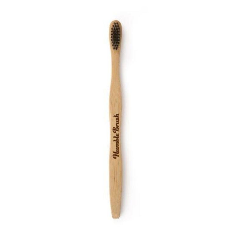 Brosse à dents pour adulte en bambou souple coloris noir 716277