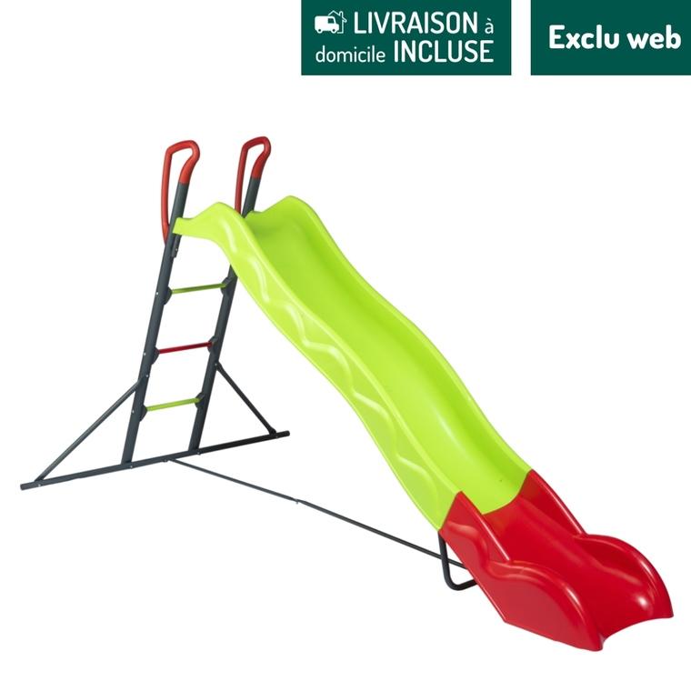 Toboggan Halvar vert 263 cm de glisse 296x148x157 cm 716409