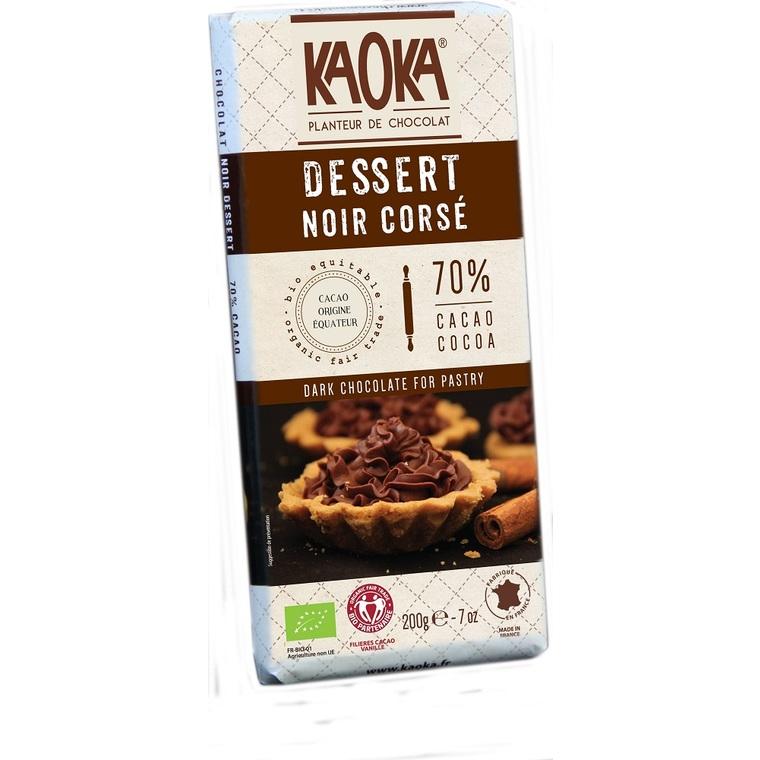 Chocolat dessert noir corsé 72 % de cacao bio - 200 g 719931
