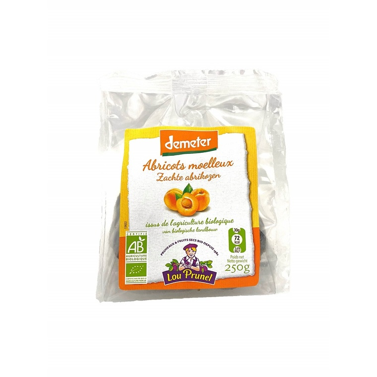 Abricots moelleux bio Demeter - 250 g 726992