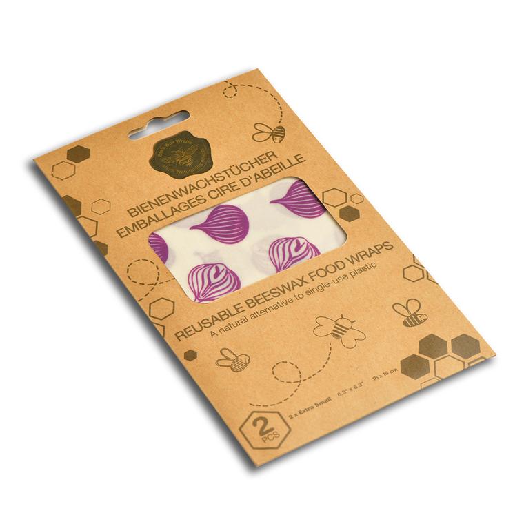 Ensemble de 2 feuilles d'emballage alimentaire réutilisables 16x16 cm 694353