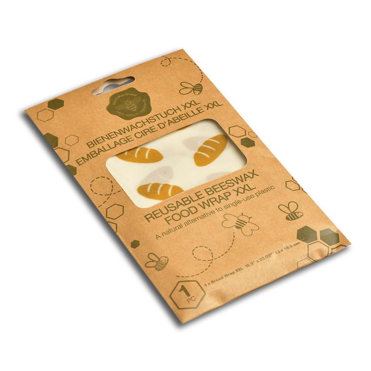 Feuille d'emballage alimentaire réutilisable décor pain 43x58 cm 697163