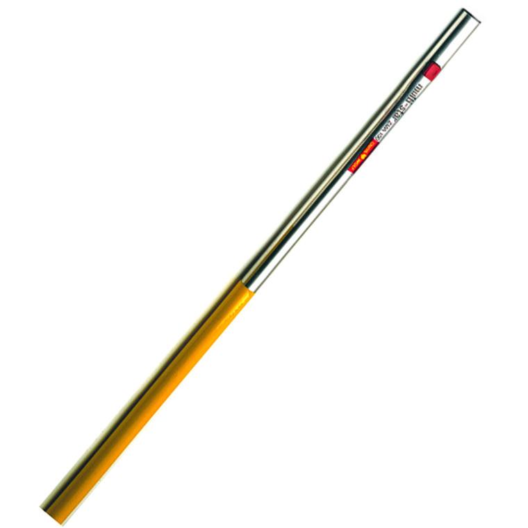 Manche en aluminium coloris jaune 140 cm 782006