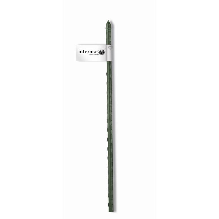 Tuteur acier plastifié coloris vert  Ø 8 mm x 0,90 m 784645
