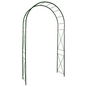Arche double avec décor losange, coloris vert sapin  H.250cm 808554