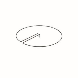 Anneau centré E 30 cm 846472