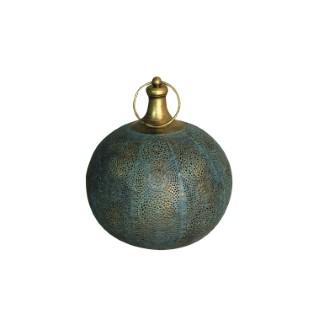 Lanterne Tiznit effet flamme à piles verte Ø 25 x 29 cm 700541
