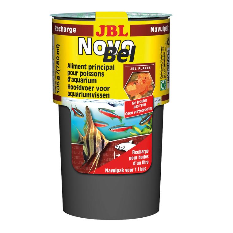 Recharge d'aliment flocons pour poissons Novobel. La boite de 750 ml 803269