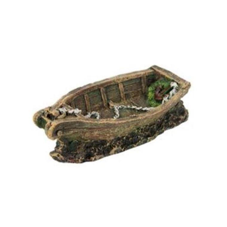 Décor aquarium petite barque 18cm