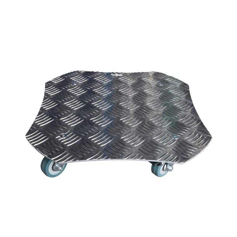Support à roulettes en aluminium carré 34 cm 81722