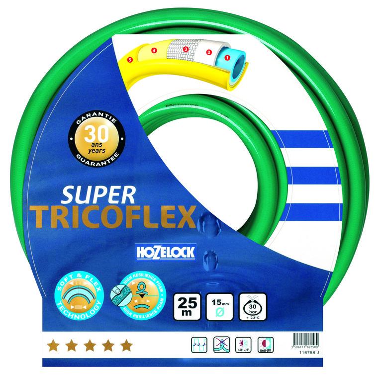 Tuyau super Tricoflex  vert L 50 m x  Ø 15 mm 81893