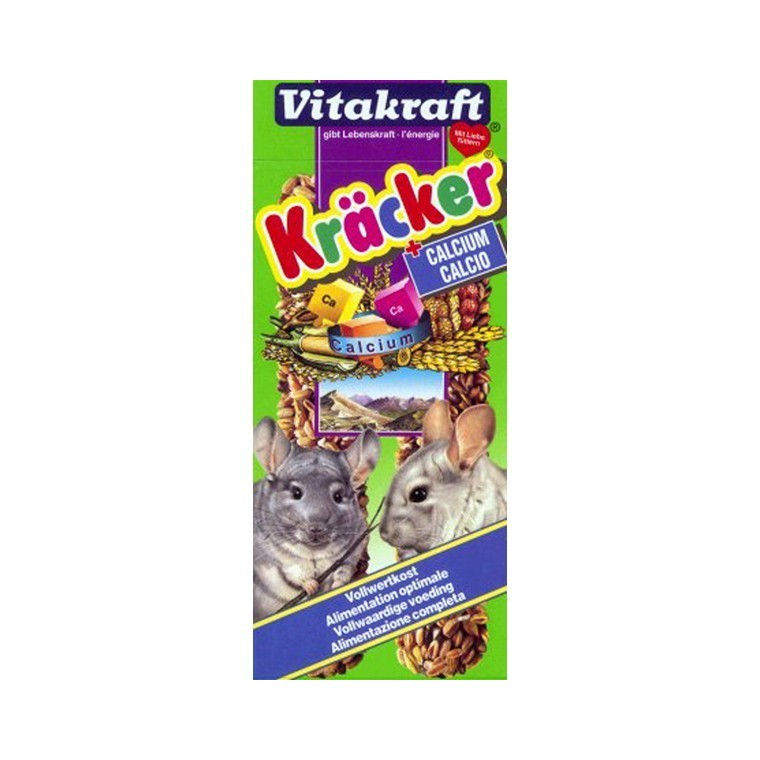 Kräcker calcium chinchillas x2 Vitakraft 112g