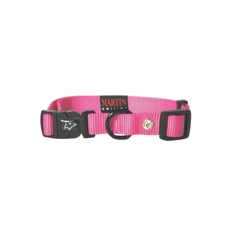 Collier chien réglable 16mm / 30-45cm rose