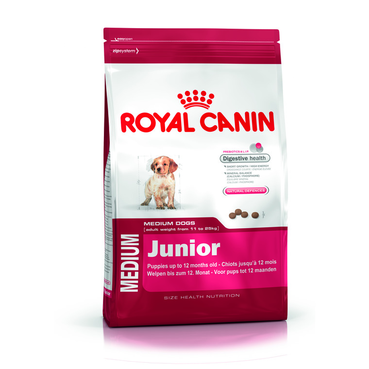 Croquettes chiot taille moyenne Royal Canin 15 kg 836016