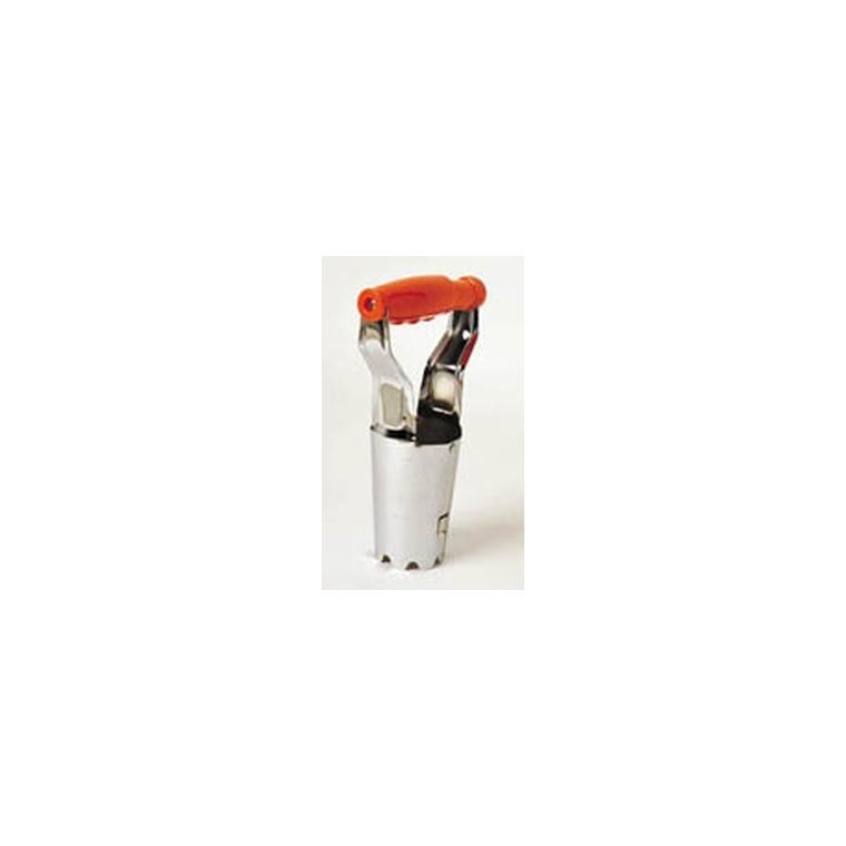 Plantoir à bulbe articulé acier et PVC 7x12x23 cm 848748