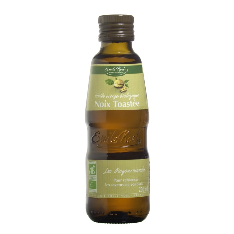 Huile vierge de noix bio en bouteille de 250 ml 851320