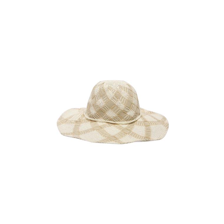 Chapeau de paille sandrine beige pour femme taille unique 870006