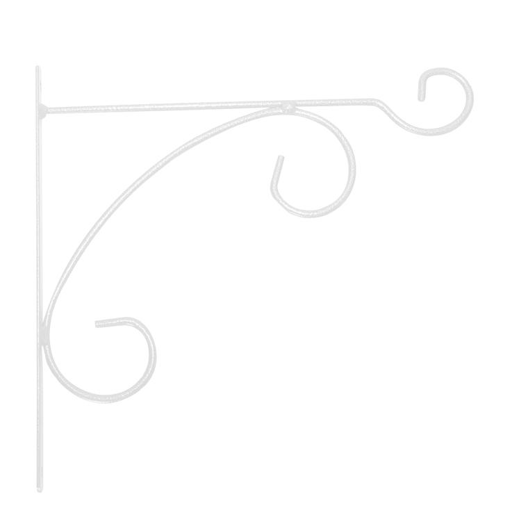 Potence en fer rond blanc 32 cm 871317