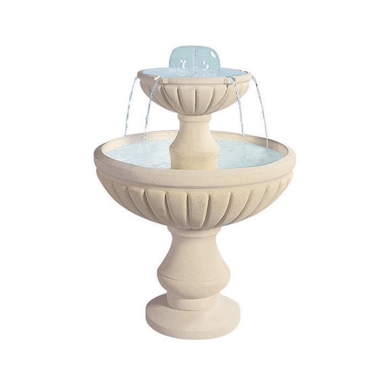 Fontaine centrale - Blanc : Décoration et aménagement du jardin ...