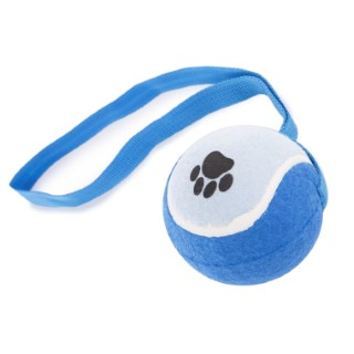 Balle de tennis avec sangle bleue Ø 10 cm 925970