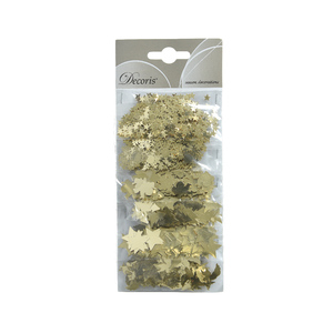 Figurines feuilles en aluminium couleur or clair - 21x9x1 cm 942390