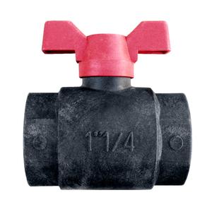 Vanne en polypropylène à boisseau sphérique femelle filetage 20 x 27 mm 964943