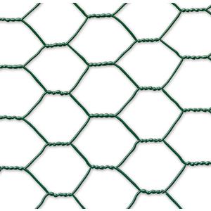 Grillage Galvanex maille hexagonale 4,1 cm Métal plastifié Vert L10 m x H100 cm 966063