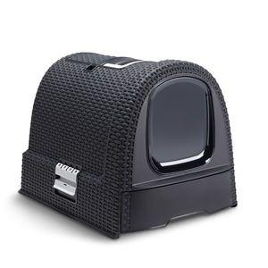 Maison de toilette pour chat Curver® anthracite 975675