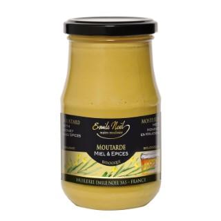 Moutarde au miel et aux épices bio en pot de 200 g 99256
