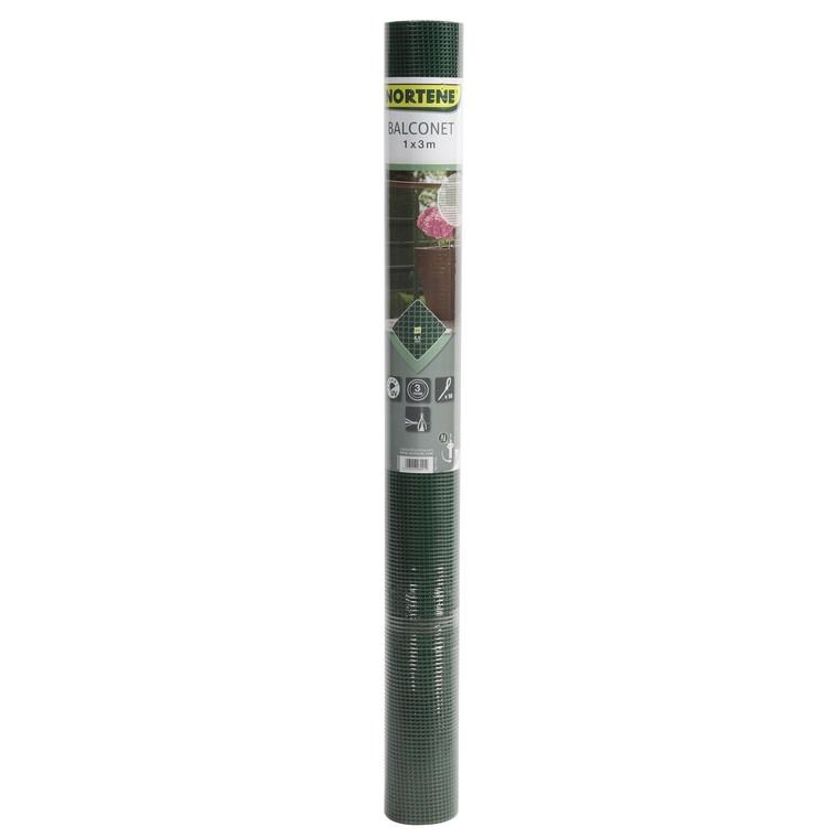Maille carrée Balconet 05, coloris vert, 1 x 3 m 914557