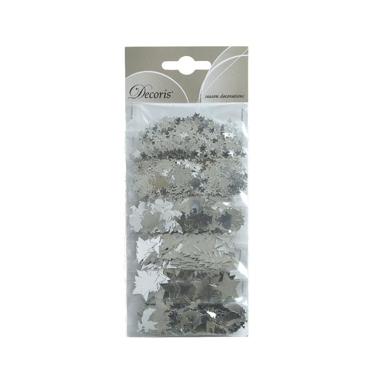 Figurines feuilles en aluminium couleur argent - 21x9x1 cm 942109