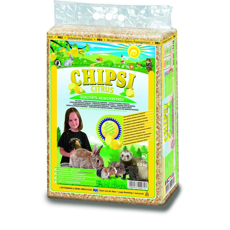 Litière pour rongeur Chipsi Citrus – Sac de 60 L / 3,2 kg 957491