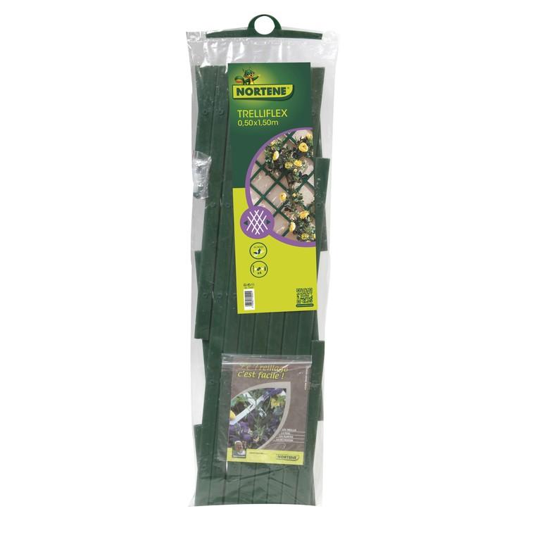 Treillis extérieur Treilliflex en PVC, coloris vert, 50 x 150 cm 966008