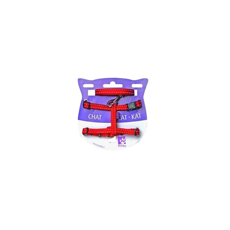 Kit harnais + laisse pour chat Safe noir 975818