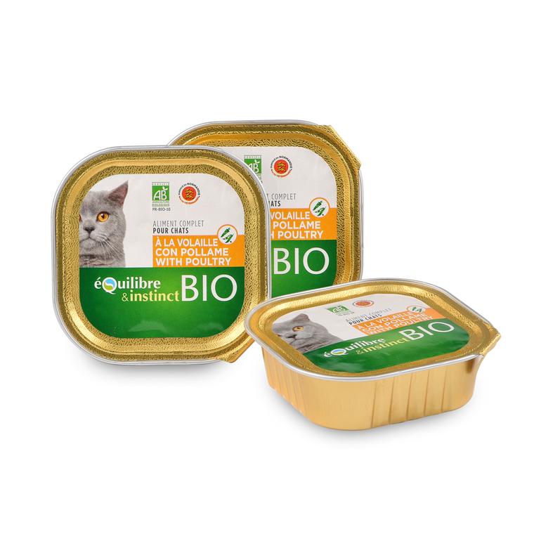 Boite pour chat bio à la volaille 100 g