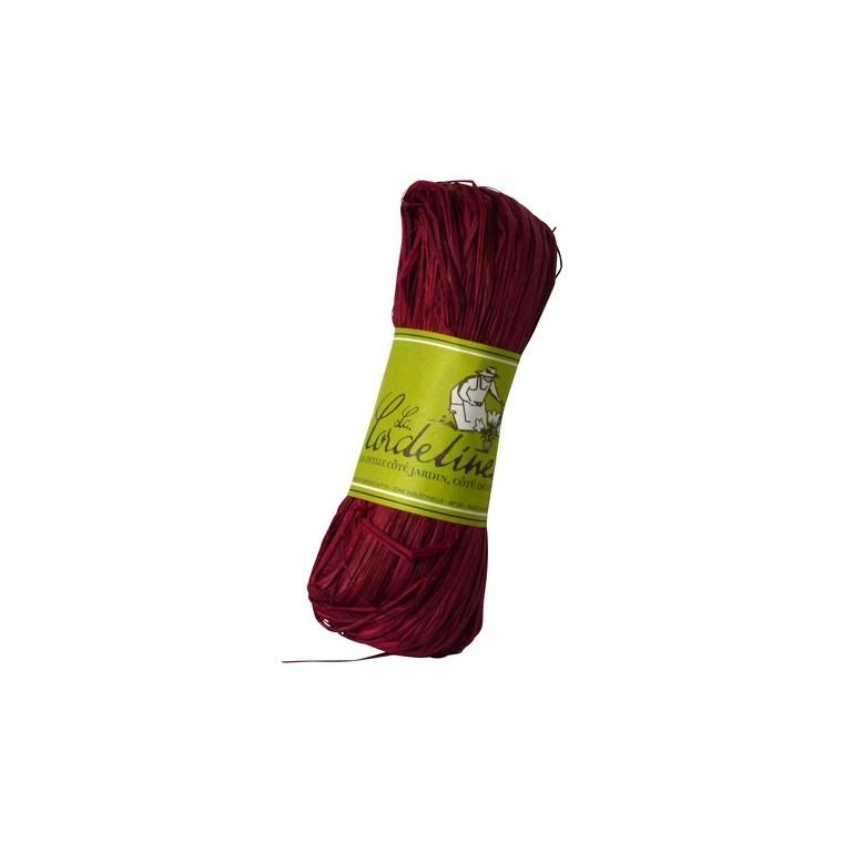 Raphia couleur framboise - 50 gr 98704