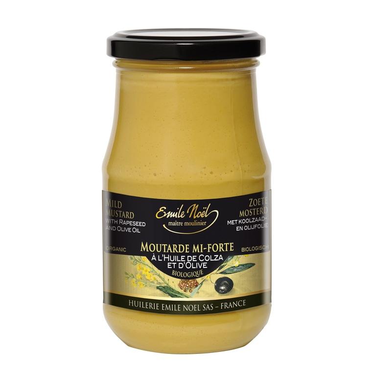Moutarde mi forte colza et olives bio en pot de 190 g 99257